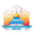 israel - modern line travel vector image vector image