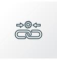 link building icon line symbol premium quality vector image vector image