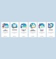 mobile app onboarding screens online cloud vector image