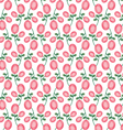 mod oval pink rose pattern vector image vector image