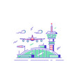 modern airport station with airplane vector image vector image