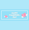 paper cut valentines day origami web banner vector image vector image