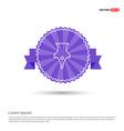pen nib icon - purple ribbon banner vector image vector image