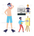 people my hobby vector image vector image