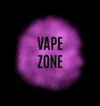 pink smoke for use on dark background vector image
