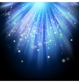 Rays of light flowing down EPS 10 vector image