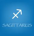 sagittarius zodiac sign icon simple vector image