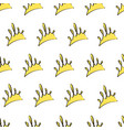 seamless pattern with yellow crowns on a white vector image vector image