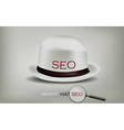 seo white hat vector image vector image