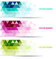 set abstract background with triangle vector image vector image