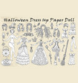 set dress up paper doll with halloween witch cl vector image