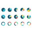 set wheel chart icons vector image