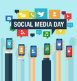 social media day vector image vector image
