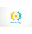solar energy logo sign symbol or icon vector image
