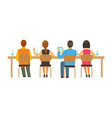students sitting at desks and listening at college vector image vector image