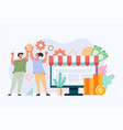 successful entrepreneur business team winning conc vector image vector image