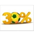 thirty percent discount icon vector image