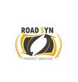 transport transit service symbol vector image vector image
