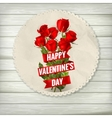 Valentines Day lacy frame EPS 10 vector image