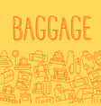 various types of baggage for travel and tourism in vector image vector image