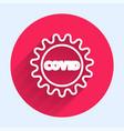white line corona virus covid-19 icon isolated vector image vector image