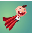 wonder baby super boy funny little child in vector image vector image