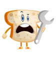working bread on white background vector image vector image