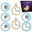 collection icon of clock vector image
