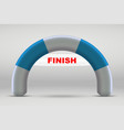 3d inflatable finish line arch vector image vector image