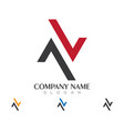 a letter logo business template vector image vector image