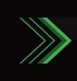 abstract green arrow direction on black metallic vector image vector image