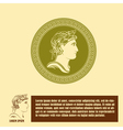 Ancient profile of man logo design template vector image vector image