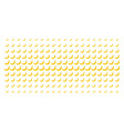 banana shape halftone grid vector image