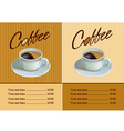 Banner for restaurant and cafe Coffee vector image vector image