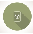 barrel with hazardous material icon vector image