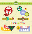 big sale christmas ball sticker tags with sale vector image
