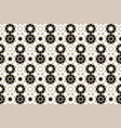 black and white moroccan motif tile pattern vector image vector image