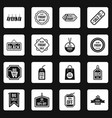 black friday icons set squares vector image