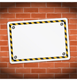 Blank Banner on Brick Wall vector image vector image
