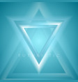 blue triangles abstract tech futuristic background vector image vector image