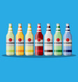 bottle of carbonated drink or juice vector image