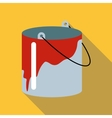 Bucket icon flat style vector image vector image