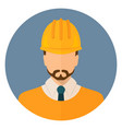 builder in protective clothing and helmet vector image