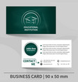business card template with blackboard texture vector image vector image