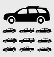 car icons black vector image vector image