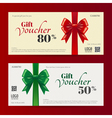Christmas gift card or gift voucher template vector image vector image