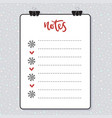 clipboard with lined paper mockup template vector image