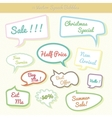 collection colorful speech bubbles dialog set vector image vector image