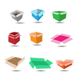 colorful box and shadow vector image vector image