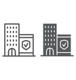 company insurance line and glyph icon protection vector image